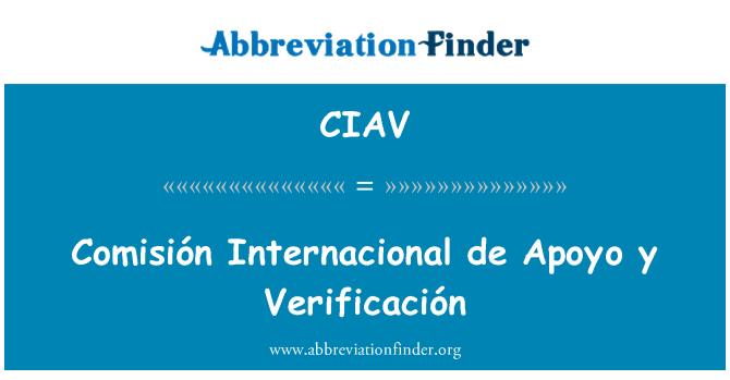 CIAV: Comisión Internacional de Apoyo y Verificación