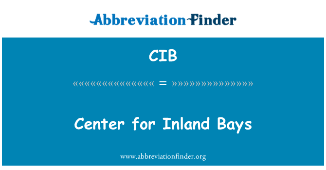 CIB: Center for Inland Bays