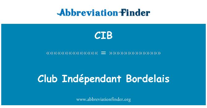 CIB: Club Indépendant Bordelais
