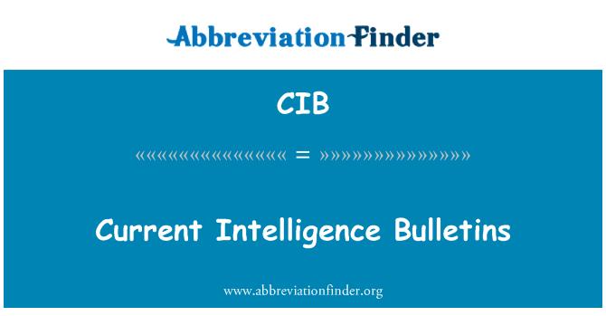 CIB: Current Intelligence Bulletins