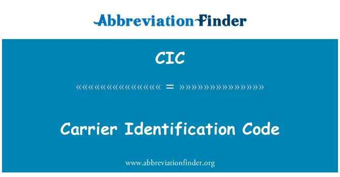 CIC: Lennuettevõtja tunnuskood