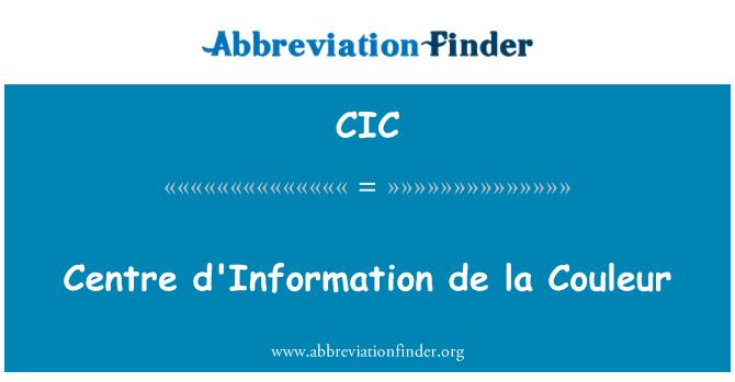 CIC: Keskuse esimesel de la Couleur