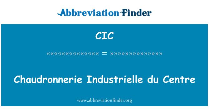 CIC: Chaudronnerie Industrielle du Centre