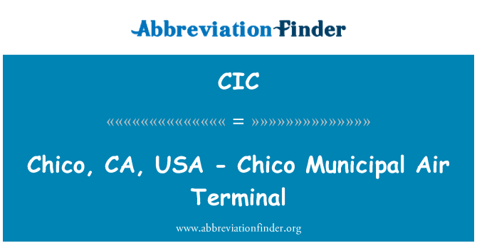 CIC: Chico, CA, Ameerika Ühendriigid - Chico Municipal Air Terminal