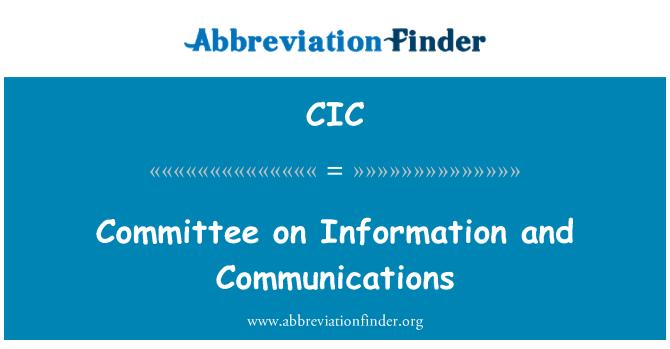 CIC: Teave ja side