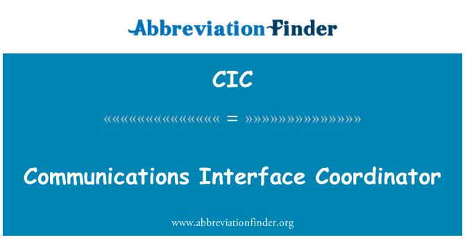 CIC: Kommunikatsiooni liides koordinaator