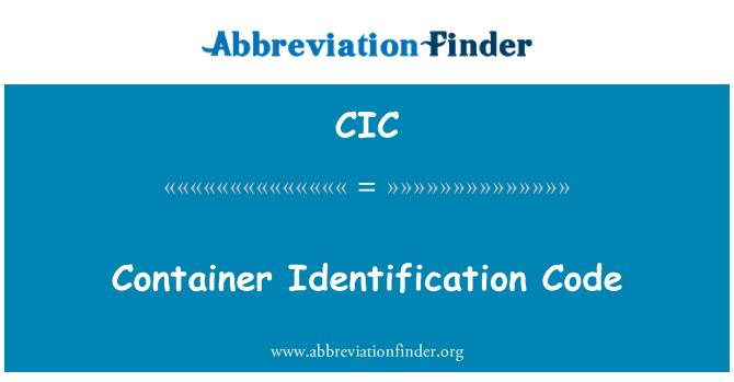 CIC: Konteineri ID-kood