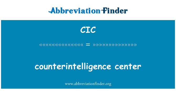 CIC: vastuluure center