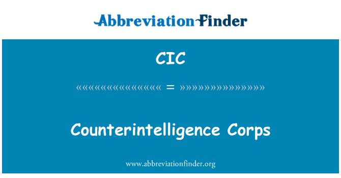 CIC: Cuerpo de contrainteligencia