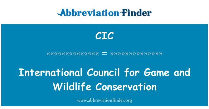 CIC: Consejo Internacional para la caza y conservación de vida silvestre