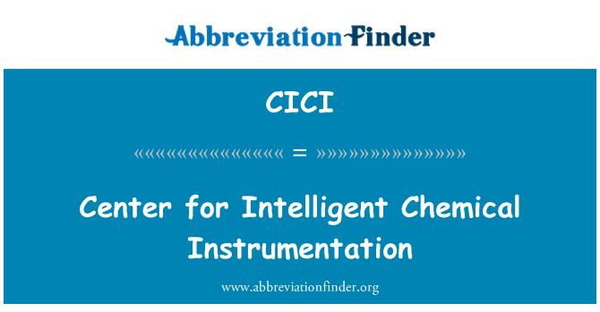 CICI: Akıllı kimyasal araçları için merkezi