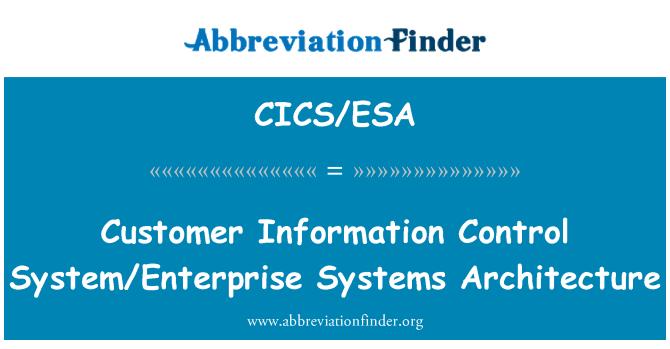 CICS/ESA: Customer Information Control System/Enterprise Systems Architecture