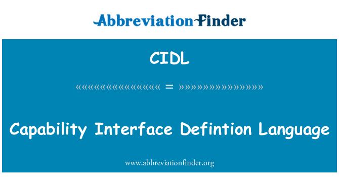 CIDL: Capacidad de la definición de idioma de la interfaz