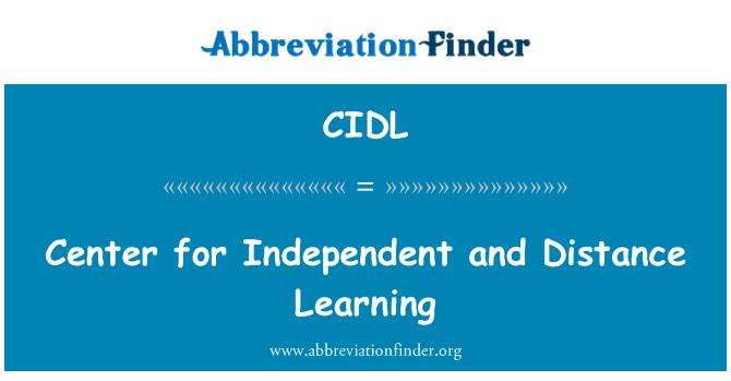 CIDL: Centro para independiente y el aprendizaje a distancia
