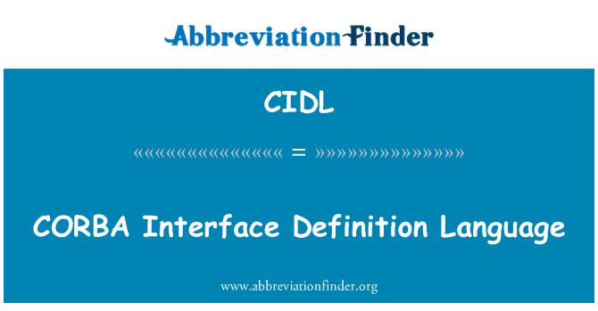 CIDL: Lenguaje de definición de interfaz CORBA