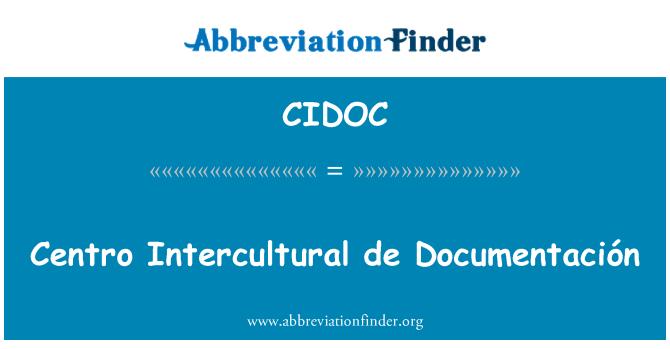CIDOC: Centro Intercultural de Documentación