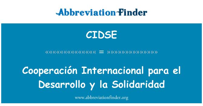 CIDSE: Cooperación Internacional para el Desarrollo y la Solidaridad