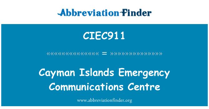 CIEC911: Cayman Islands Emergency Communications Centre