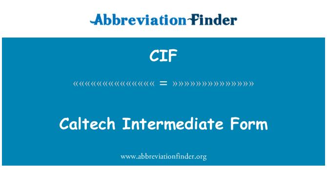 CIF: Caltech Intermediate Form