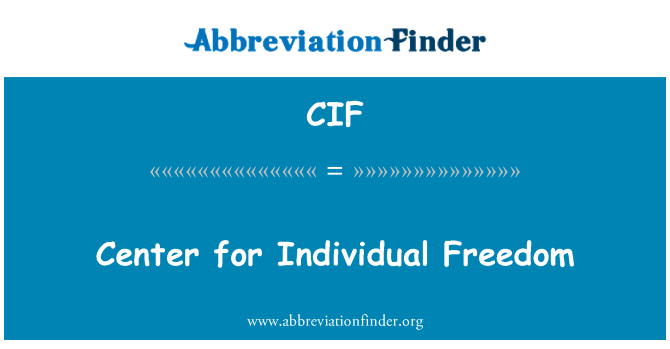 CIF: Center for Individual Freedom