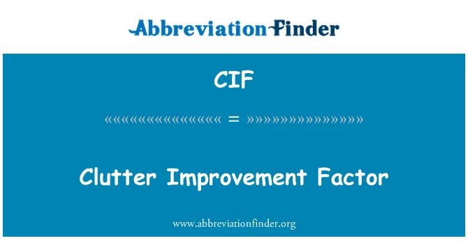 CIF: Clutter Improvement Factor