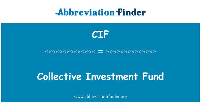 CIF: Collective Investment Fund