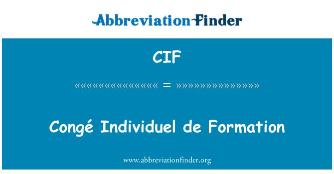 CIF: Congé Individuel de Formation