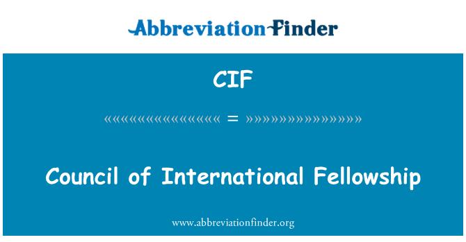 CIF: Council of International Fellowship