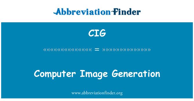 CIG: Computer Image Generation
