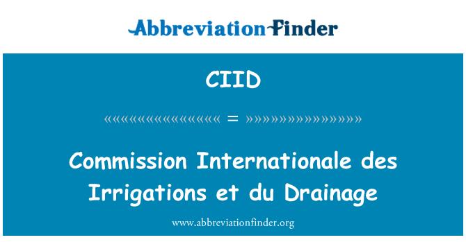 CIID: Commission Internationale des Irrigations et du Drainage