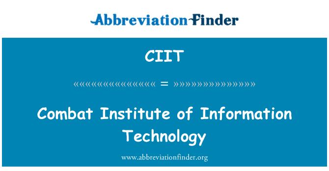 CIIT: Combate Instituto de tecnología de la información