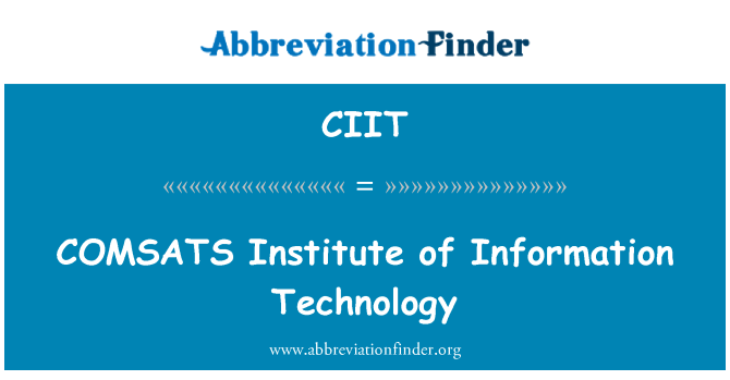 CIIT: E Institute of Information Technology