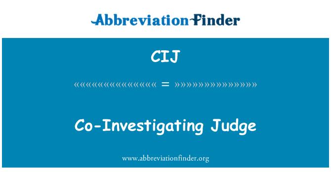 CIJ: Co-Investigating Judge