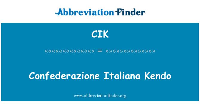 CIK: Confederazione Italiana Kendo