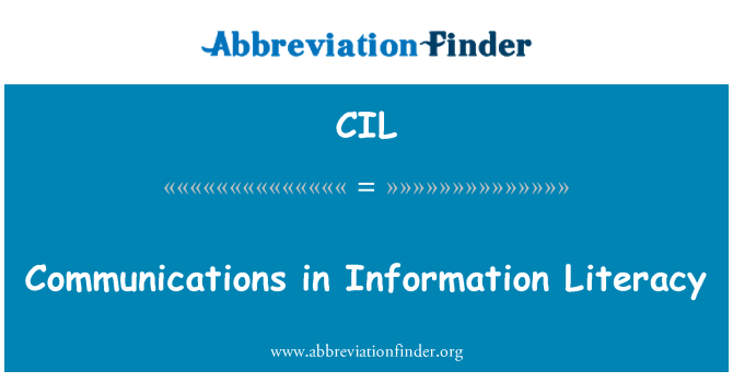 CIL: Communications in Information Literacy