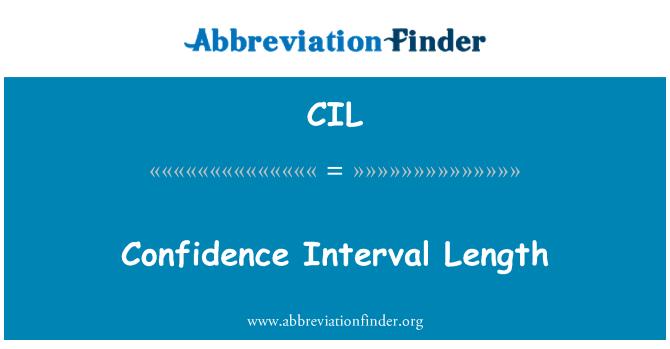 CIL: Confidence Interval Length