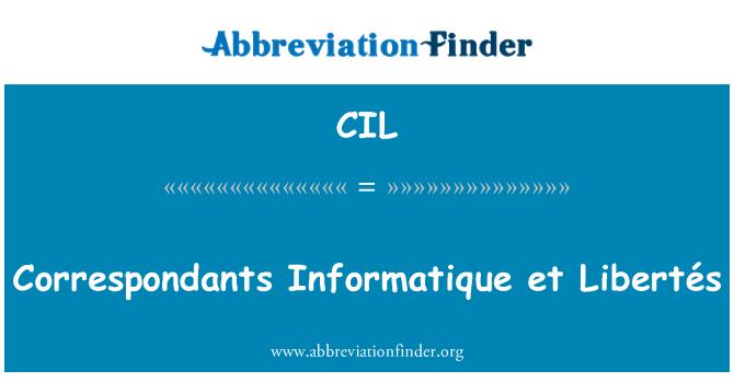 CIL: Correspondants Informatique et Libertés