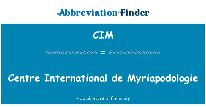 CIM: Centre International de Myriapodologie