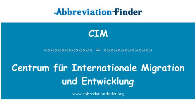 CIM: Centrum für Internationale Migration und Entwicklung