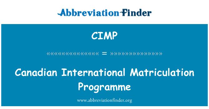 CIMP: Programa de matriculación Internacional canadiense