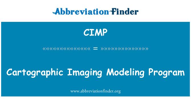 CIMP: Programa de modelado de imágenes cartográficas