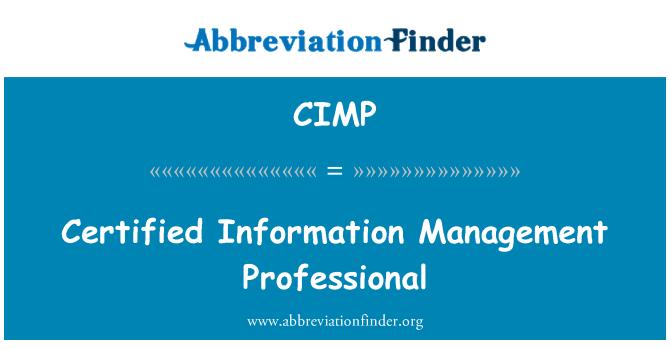 CIMP: Certificado profesional de gestión de la información