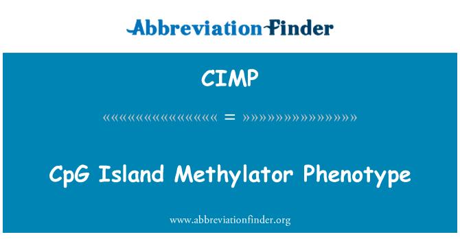 CIMP: CpG ön denatureringsmedel för alkohol fenotyp