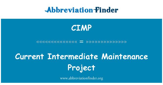 CIMP: Proyecto de mantenimiento intermedio actual