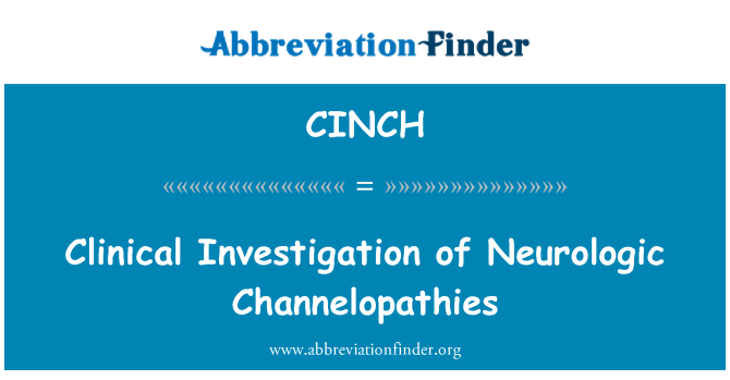 CINCH: Klinik nörolojik Channelopathies incelenmesi