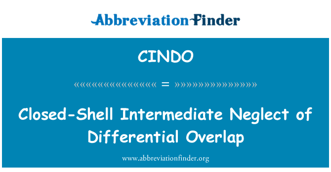 CINDO: Closed-Shell Intermediate Neglect of Differential Overlap