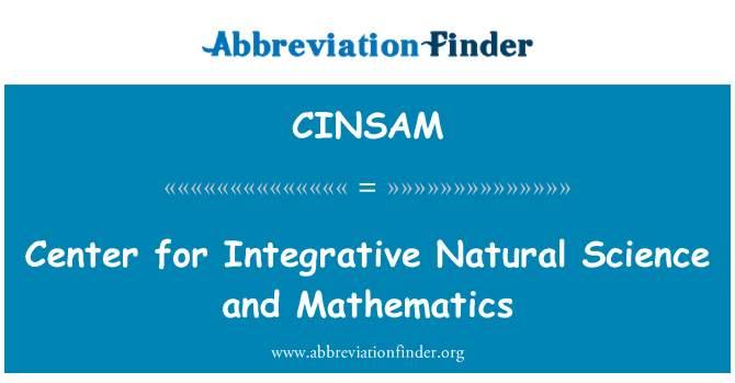 CINSAM: Center for Integrative Natural Science and Mathematics