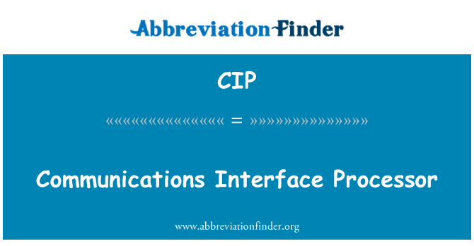 CIP: Communications Interface Processor