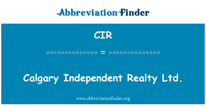 CIR: Calgary Independent Realty Ltd.