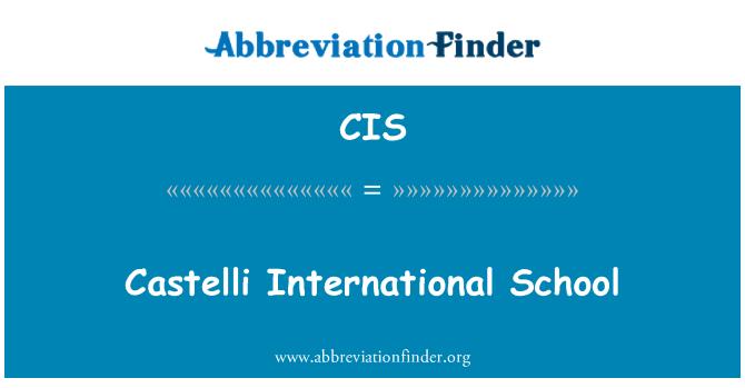 CIS: Castelli International School